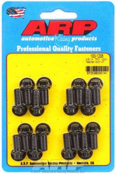 "ARP - ARP Black Oxide Header Bolt Kit - 12-Point - 3/8"" x .750"" Under Head Length (16 Pieces)"
