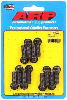 "ARP - ARP Black Oxide Header Bolt Kit - 12-Point - 3/8"" x 1.00"" Under Head Length (12 Pieces)"