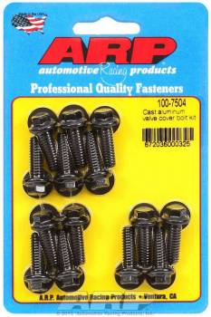 "ARP - ARP Black Oxide Valve Cover Bolt Kit - For Cast Aluminum Covers - 1/4""- 20 - .812"" Under Head Length - 12-Point (14 Pieces)"