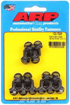 """ARP - ARP Black Oxide Valve Cover Bolt Kit - For Stamped Steel Covers - 1/4""""- 20 - .515"""" Under Head Length - Hex (14 Pieces)"""