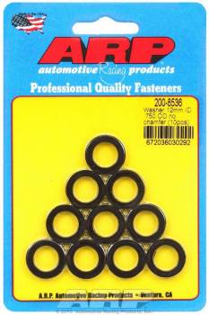 ARP - ARP Black Washers - 12mm ID x 3/4 OD (10)