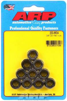 "ARP - ARP Replacement Nuts - 3/8""-24 Thread, 9/16"" Hex Socket Size - (10 Pack)"