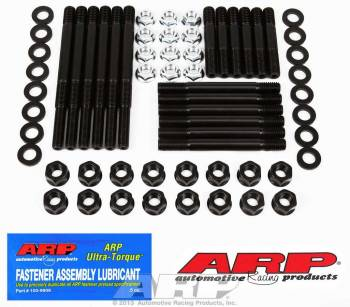 ARP - ARP Hex Nuts Main Stud Kit 4-Bolt Mains Chromoly Black Oxide - Small Block Chevy