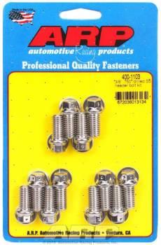 "ARP - ARP Stainless Steel Header Bolt Kit - Drilled - SB Chevy - 3/8"" Diameter, .750"" Under Head Length - Hex Head - (12 Pack)"