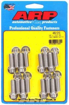 "ARP - ARP Stainless Steel Header Bolt Kit - 12-Point - 3/8"" Wrench - 3/8""-16 - 1.000"" Under Head Length - Set of 16"