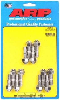 "ARP - ARP Stainless Steel Header Stud Kit - Hex Nuts - 3/8""-16 - SB Chevy - Set of 12"