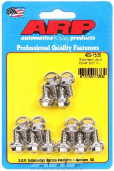"ARP - ARP Stainless Steel Valve Cover Bolt Kit - For Stamped Steel Covers- 1/4""-20 - .515"" Under Head Length - Hex (14 Pieces)"