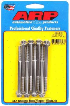 """ARP - ARP Stainless Steel Valve Cover Bolt Kit - 12-Pt - Centerbolt - 1/4""""-20 - Stamped Steel Covers - SB Chevy - Set of 8"""