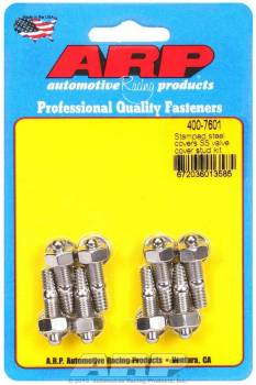 "ARP - ARP Stainless Steel Valve Cover Stud Kit - Hex - Stamped Steel Covers - 1/4""-20 Thread - Set of 8"