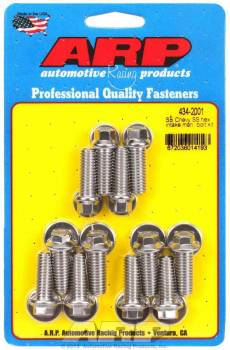 ARP - ARP High Performance Intake Manifold Bolt Kit - Stainless Steel - SB Chevy 265-400 - Hex Heads