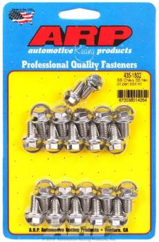 ARP - ARP BB Chevy Stainless Steel Oil Pan Bolt Kit - 6 Point