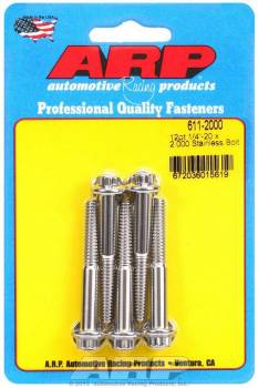 ARP - ARP Stainless Steel Bolt Kit - 12 Point (5) 1/4-20 x 2.000