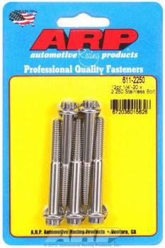 ARP - ARP Stainless Steel Bolt Kit - 12 Point (5) 1/4-20 x 2.250