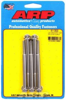 ARP - ARP Stainless Steel Bolt Kit - 12 Point (5) 1/4-20 x 3.500
