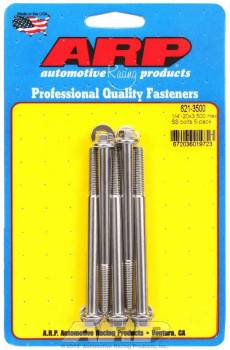 ARP - ARP Stainless Steel Bolt Kit - 6 Point (5) 1/4-20 x 3.500