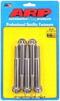 """ARP - ARP 1/2-13"""" Thread Bolt 4"""" Long 9/16"""" Hex Head Stainless - Natural"""