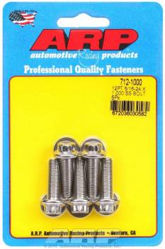 ARP - ARP Stainless Steel Bolt Kit - 12 Point (5) 5/16-24 x 1.000