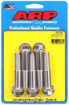 ARP - ARP Stainless Steel Bolt Kit - 6 Point (5) 1/2-20 x 2.500