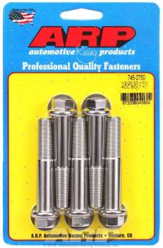 ARP - ARP Stainless Steel Bolt Kit - 6 Point (5) 1/2-20 x 2.750