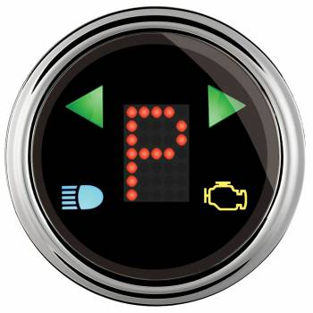"Auto Meter - Auto Meter 2-1/16"" Gauge - PRNDL+ Black Face / Chrome Bezel"