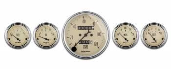 Auto Meter - Auto Meter Antique Beige Street Rod Kit - 3-1/8 in.