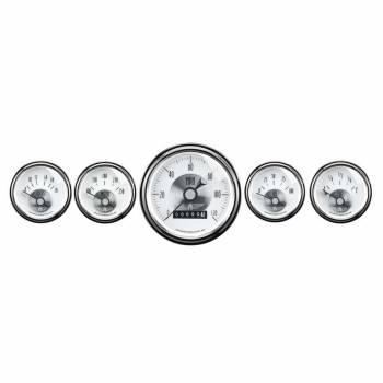 Auto Meter - Auto Meter Prestige Pearl Gauge Kit - 5-Piece set