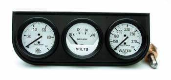 Auto Meter - Auto Gage Mechanical Oil / Volt / Water Black Console - 2-1/16 in.