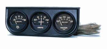 Auto Meter - Auto Gage Black Oil / Amp / Water Black Console - 2-1/16 in.
