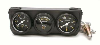 Auto Meter - Auto Gage Mechanical Mini Oil/Volt/Water Black Console - 2-1/16 in.