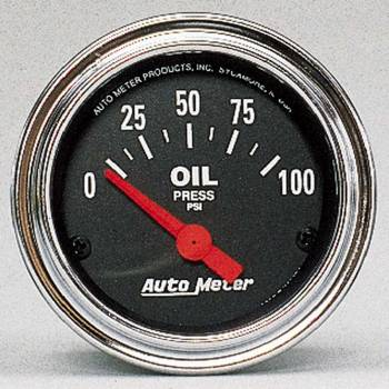 Auto Meter - Auto Meter Traditional Chrome Electric Oil Pressure Gauge - 2-1/16""
