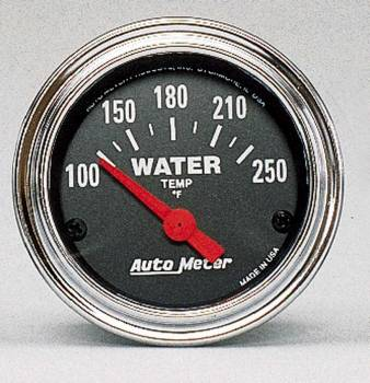 "Auto Meter - Auto Meter Traditional Chrome 2-1/16"" Water Temperature Gauge - 100-280°"