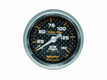 Auto Meter - Auto Meter Carbon Fiber Mechanical Air Pressure Gauge - 2-1/16 in.
