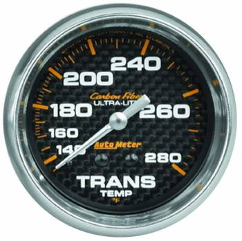 """Auto Meter - Auto Meter Carbon Fiber Transmission Temperature Gauge - 2-5/8"""" - 140-280 Deg. F"""