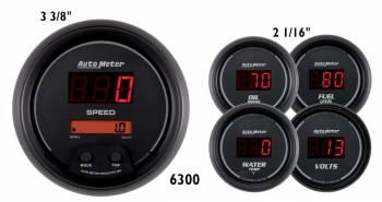 Auto Meter - Auto Meter Sport-Comp Digital 5 Gauge Set - Fuel / Oil / Speedometer / Volt / Water - 5 in.