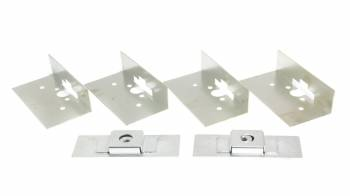 AutoLoc - AutoLoc Steel Door Latch Installation Kit Zinc Oxide - AutoLoc Large Bear Claw Door Latches