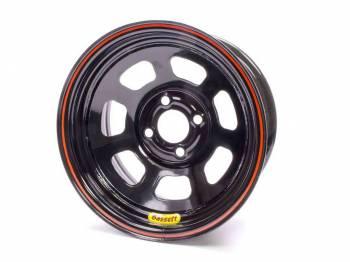 """Bassett Racing Wheels - Bassett D-Hole Lightweight Wheel - 14"""" x 7"""" - 4 x 4.25"""" Bolt Circle - 3"""" Back Spacing - Black - 15 lbs."""