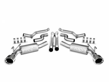 Borla Performance Industries - Borla S-Type Cat-Back System - Includes Connecting Pipes / Mufflers / Tips / Mounting Hardware - 4.5 in. Round