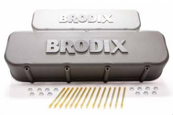 BRODIX - Brodix Cylinder Heads BB Chevy Tall Valve Covers w/ Brodix Logo