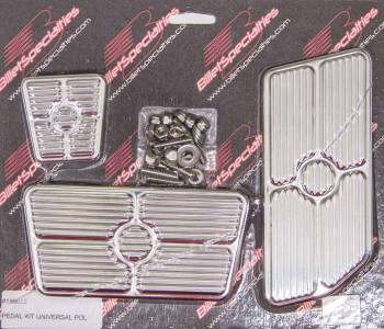 Billet Specialties - Billet Specialties Universal Pedal Kit - Gas/Brake - Grooved