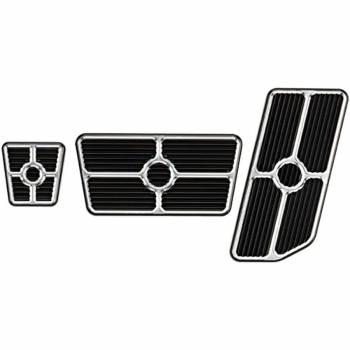 Billet Specialties - Billet Specialties Universal Pedal Kit - Gas/Brake - Grooved - Black
