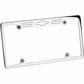 Billet Specialties - Billet Specialties Bowtie License Plate Frame - Polished