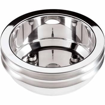 Billet Specialties - Billet Specialties SB Chevy Crankshaft Pulley - V-Belt - Double Groove - SB Chevy 5.0/5.4/5.7/6.6L
