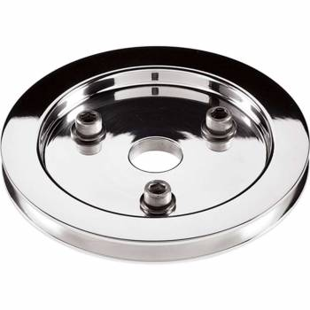 Billet Specialties - Billet Specialties Polished SB Chevy Single Groove Crankshaft Pulley - SB Chevy - Short Water Pump