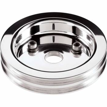 Billet Specialties - Billet Specialties Polished SB Chevy Double Groove Crankshaft Pulley - SB Chevy - Short Water Pump