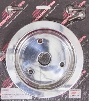 Billet Specialties - Billet Specialties Polished BB Chevy Triple Groove Crankshaft Pulley - BB Chevy - Short Water Pump