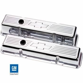 Billet Specialties - Billet Specialties SB Chevy Bowtie Short Valve Covers - SB Chevy - (Set of 2)