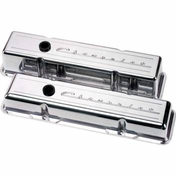 Billet Specialties - Billet Specialties SB Chevy Script Tall Valve Covers - Chevrolet Logo - SB Chevy - (Set of 2)