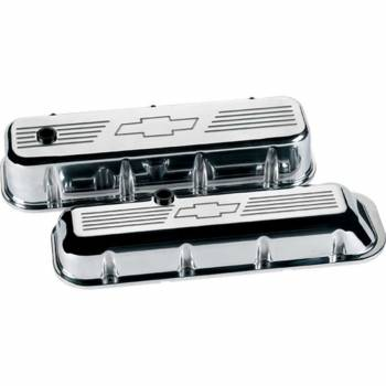 Billet Specialties - Billet Specialties BB Chevy Bowtie Valve Covers - Tall - Polished - BB Chevy - (Set of 2)