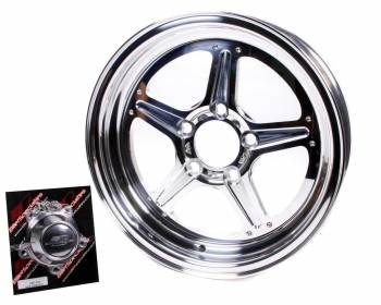 Billet Specialties - Billet Specialties Street Lite Wheel - 15 in. x 4 in. - 5 in. x 4.5 in. - 1.625 in. Back Spacing
