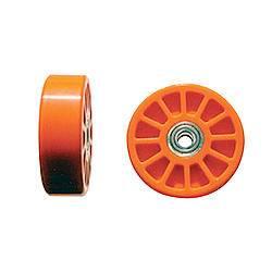 "Chassis Engineering - Chassis Engineering Wheelie Bar Wheels - 3/8"" Hole- Orange (2)"